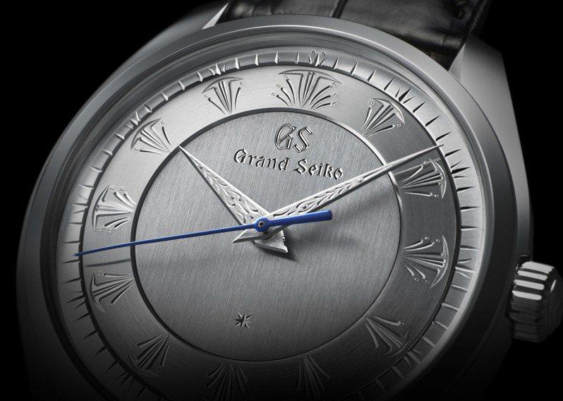 利用鉑金為表殼的SBGW263腕表,就由精雕大師照井清率領團隊以手工精雕細鑿面盤所有圖像。圖/SEIKO提供
