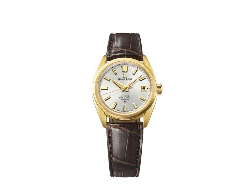 Grand Seiko 60周年紀念SLGH002腕表,18K黃金表殼,限量100只,45,000歐元。圖/SEIKO提供