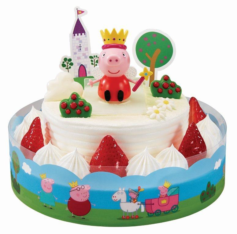 粉紅豬小妹公仔蛋糕。圖/85℃提供