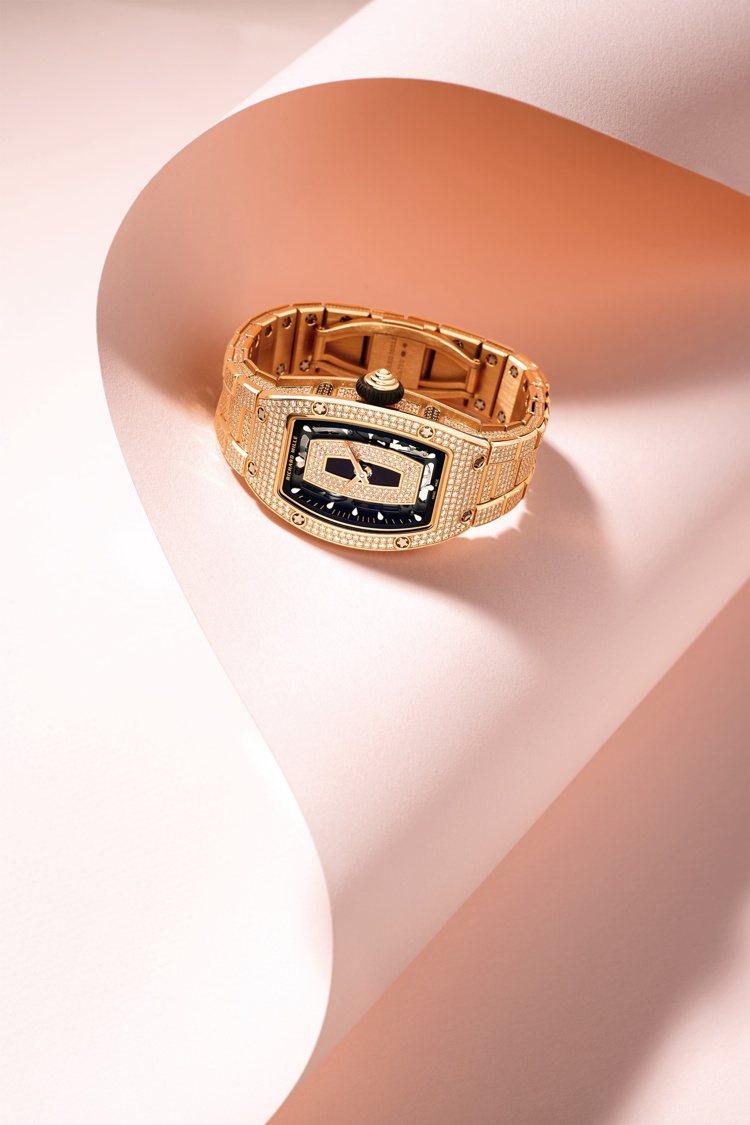 RICHARD MILLE,RM 07-01紅金鑲鑽女士腕表,18K紅金表殼、表...