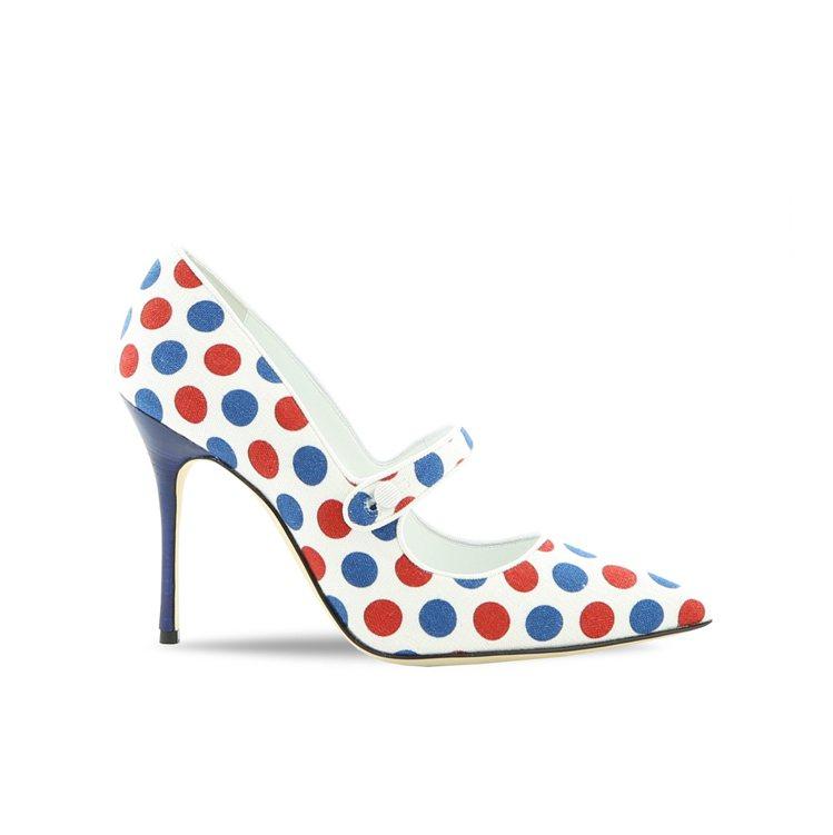 致敬美國普普藝術家Roy Lichtenstei的圓點圖紋鞋款,32,800元。...
