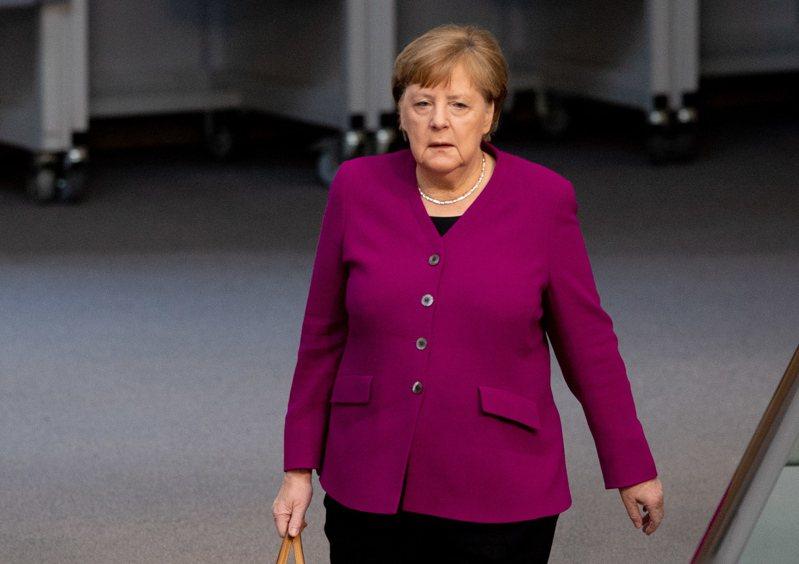 德國總理梅克爾。(歐新社)