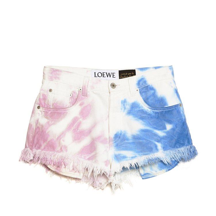 藍粉色棉質短褲,售價21,000元。圖/LOEWE提供