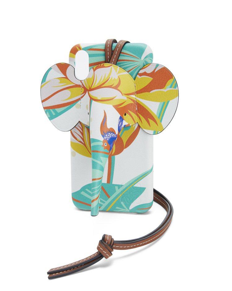 白色小牛皮大象造型手機殼,售價19,000元。圖/LOEWE提供
