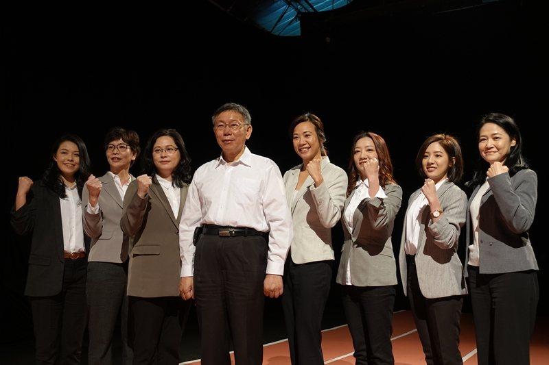 圖為2020大選期間,台灣民眾黨昨在社子島片廠拍攝女力宣傳影片。 圖/聯合報系資...