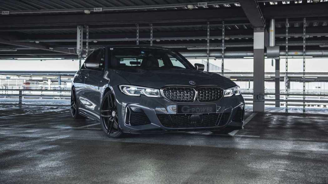 改裝廠G-Power版的BMW M340i xDrive Sedan。 摘自G-...