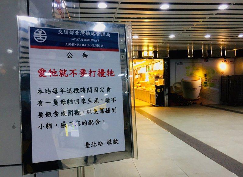 台北車站超暖心公告,引來上千網友大讚「超友善」。圖擷自facebook