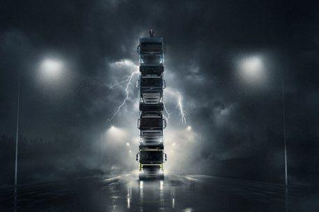 影/重卡世界講求真實力!Volvo Trucks用卡車高塔一展新世代車款