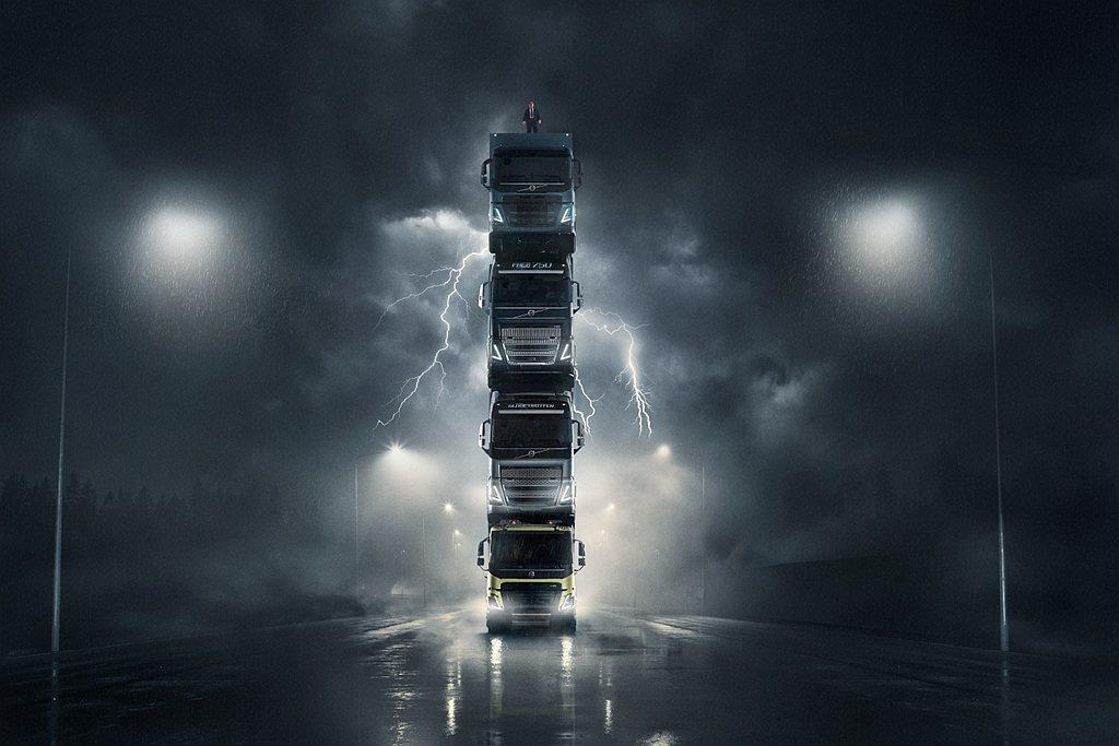 Volvo Trucks日前發表新車,產品廣告又再度吸引全球目光。 圖/Volv...