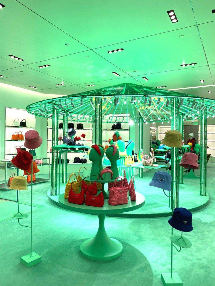PRADA HYPER LEAVES期間限定店中店即日起至5月17日在台北101...