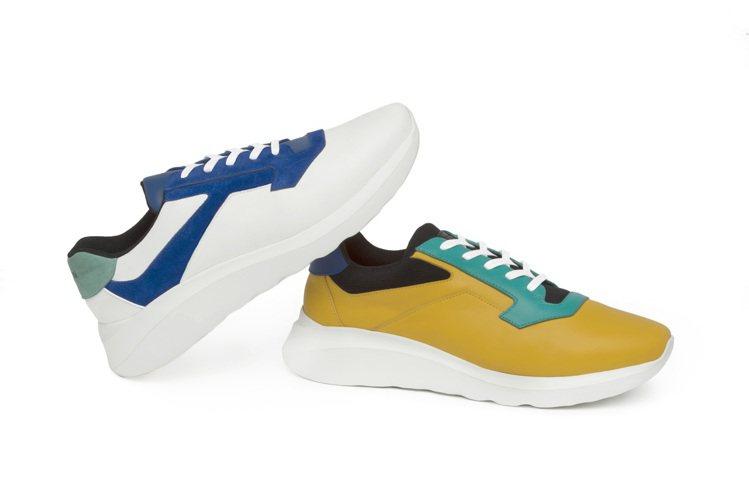 a.testoni,新款T-design運動鞋,復古風格之餘輕便好搭穿,21,8...