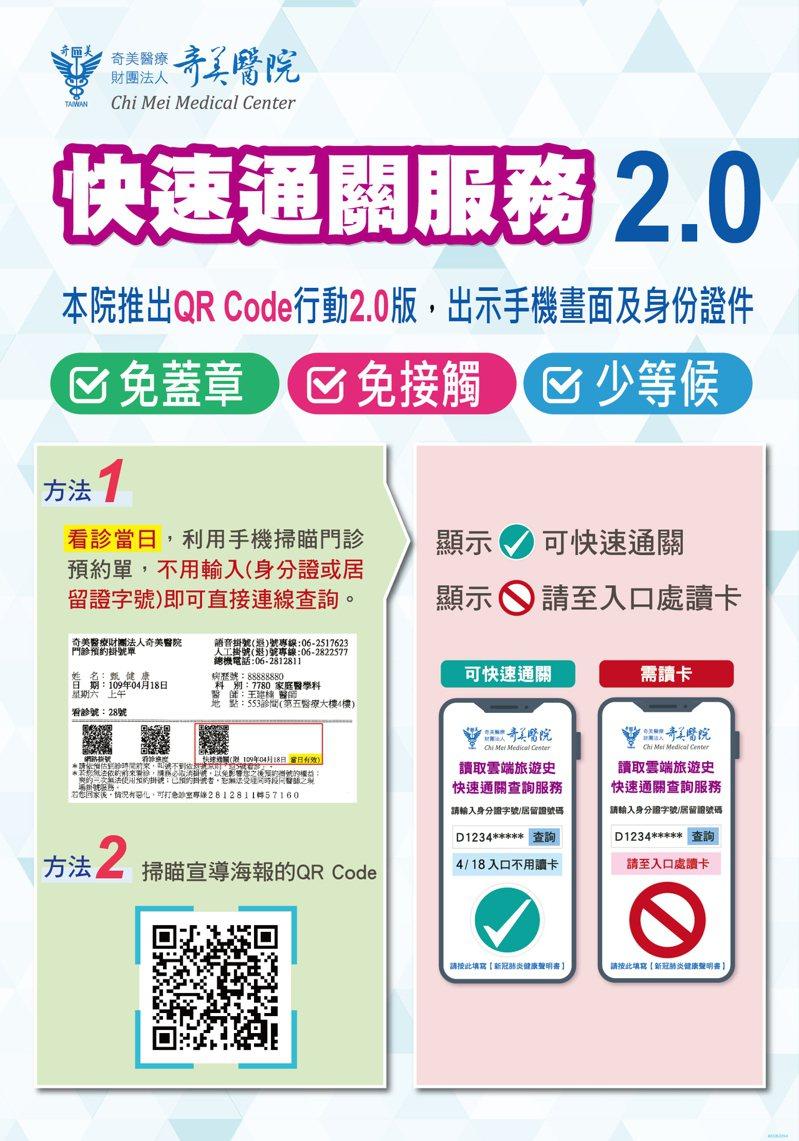 手机扫瞄门诊预约挂号单QR Code,可直接连线查询旅游史。记者周宗祯/翻摄