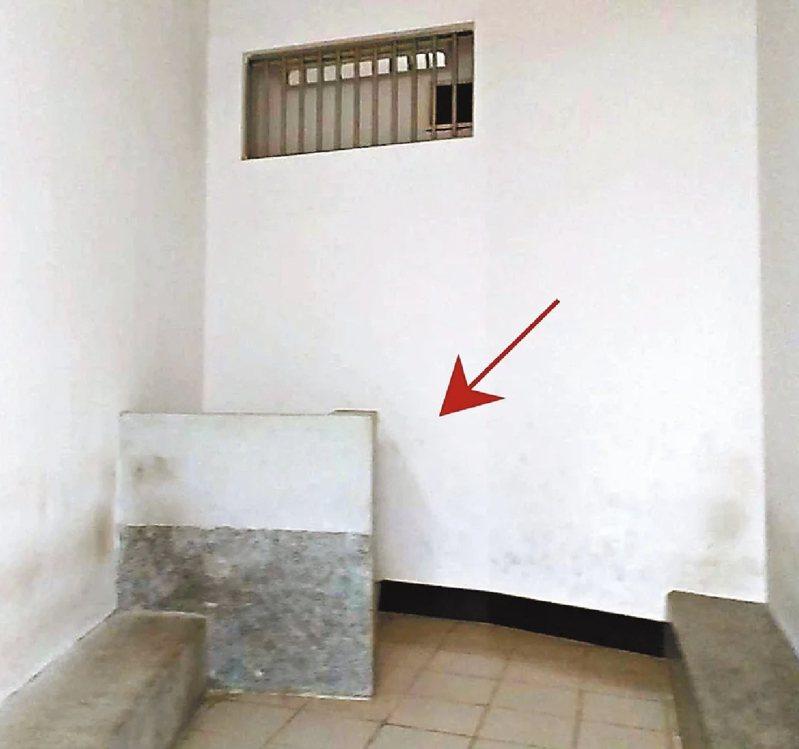 楊男在拘留室爬上135公分矮牆,已頭部朝下姿勢往下跳,受重傷搶救4天仍不治。圖/報系資料照