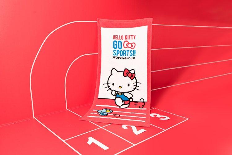 Hello Kitty田徑系列運動毛巾原價250元,會員價169元。圖/生活工場...