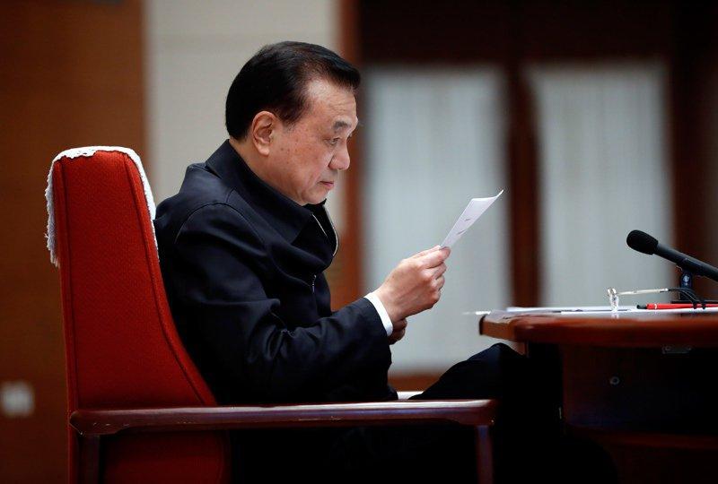 大陸國務院總理李克強23日在北京與六省(市)政府主要負責人視頻連線。圖:中國政府網