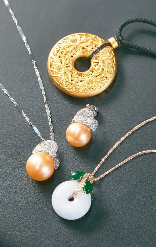 黃金、珍珠、翡翠,是熟齡媽媽偏好的珠寶種類。記者陳立凱/攝影
