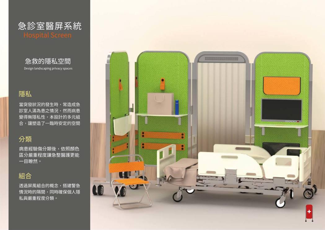 急診室醫屏系統_簡碩亨_鮑品丞。 東南科大/提供