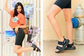 「韓國第一腿精」又要來種草了!宣美秀PUMA新款涼鞋 穿超貼身單車褲曲線好逼人