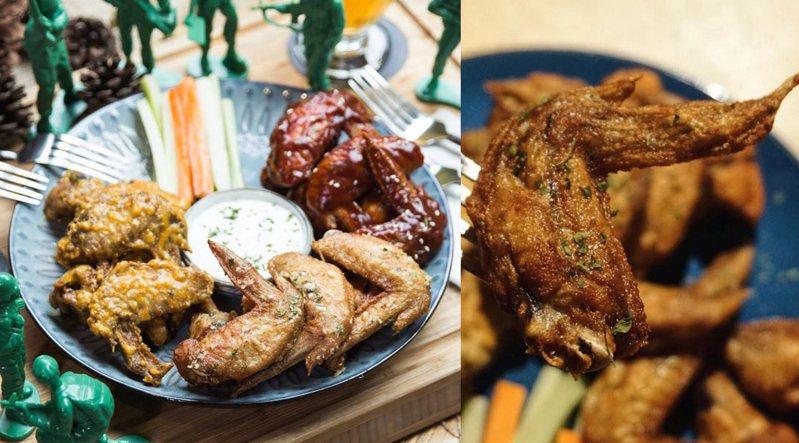 餐廳主打將大家熟悉的水牛城雞翅,結合在地及異國多樣風味材料,變化出15種Gumgum獨門雞翅料理。圖/FB「Gumgum Beer & Wings 雞翅啤酒吧」授權