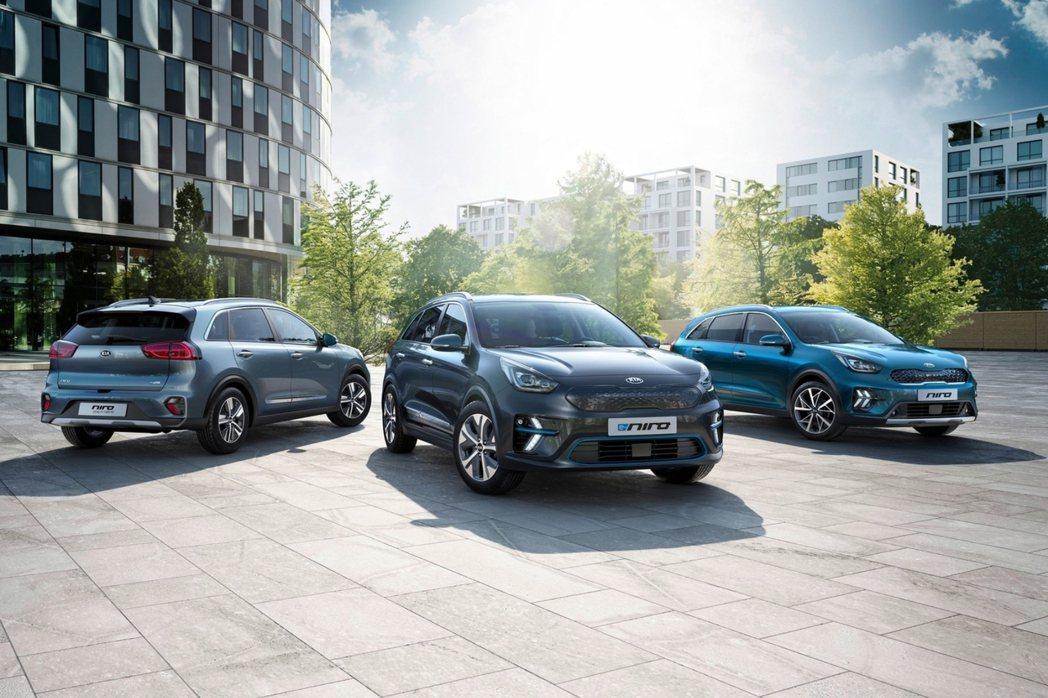 Kia Niro車系在歐洲僅提供複合式動力與純電車型,包括Niro Hybrid...