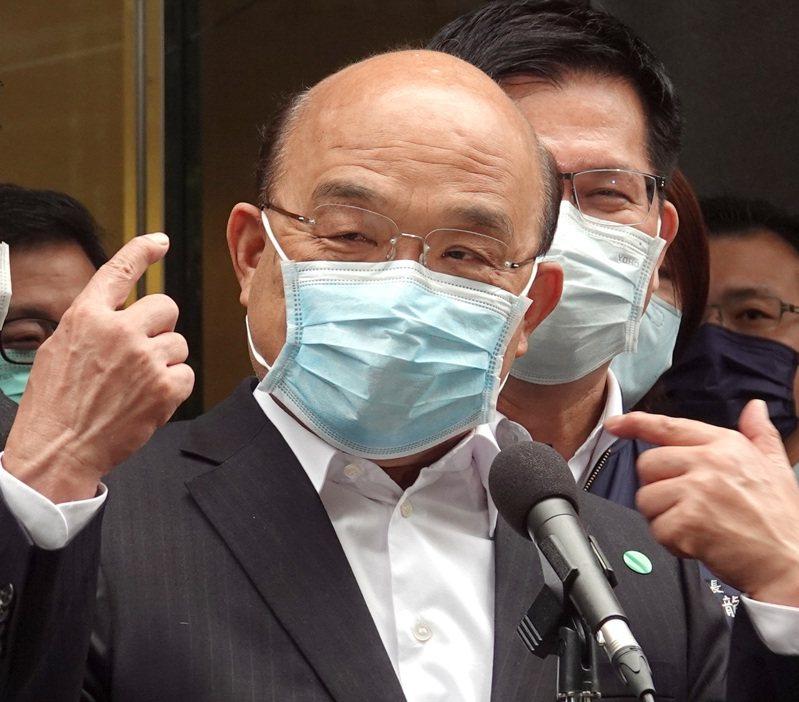 行政院長蘇貞昌。聯合報系資料照片/記者林澔一攝影