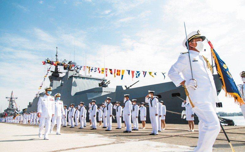 海軍敦睦鑑隊磐石艦31名成員確診新冠肺炎。圖/軍聞社提供