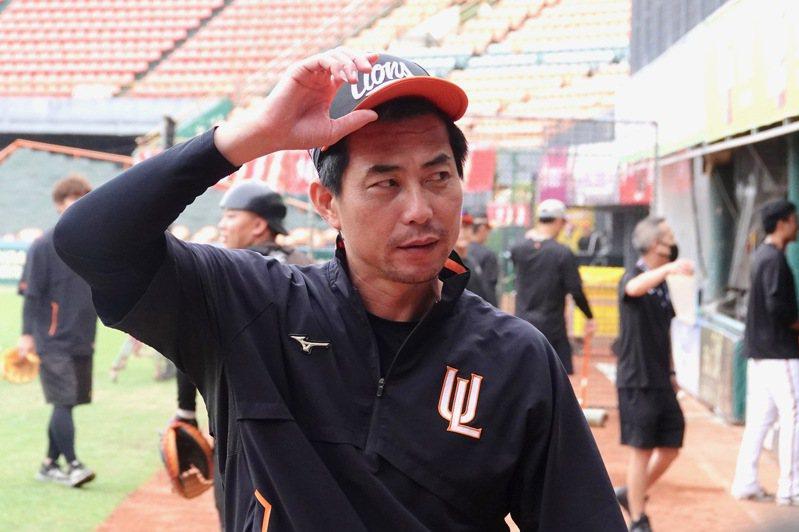 統一獅隊代總教練林岳平。記者蘇志畬/攝影