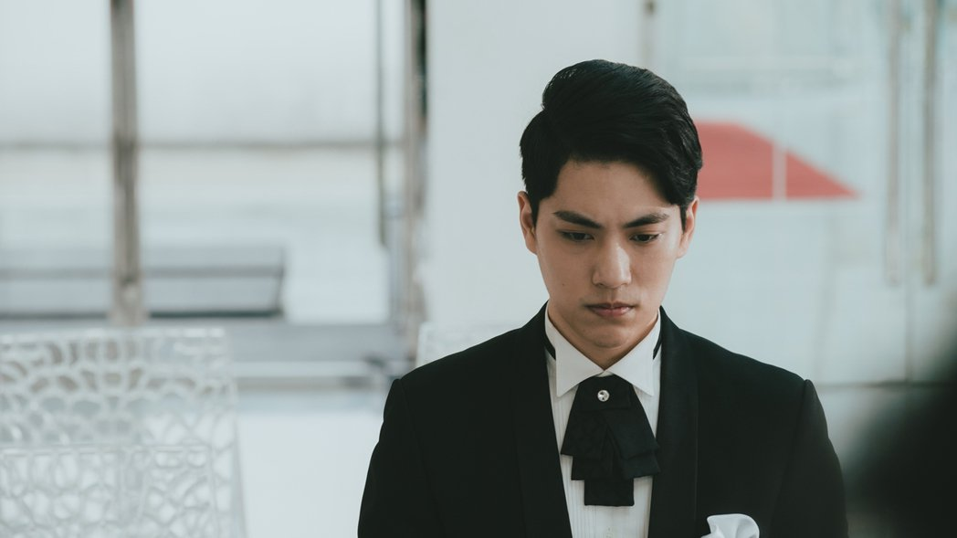 林子閎在「若是一個人」中的一場婚禮戲。圖/華視提供