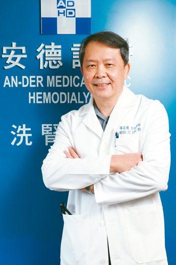 台灣基層透析協會理事長楊孟儒。 記者許正宏╱攝影