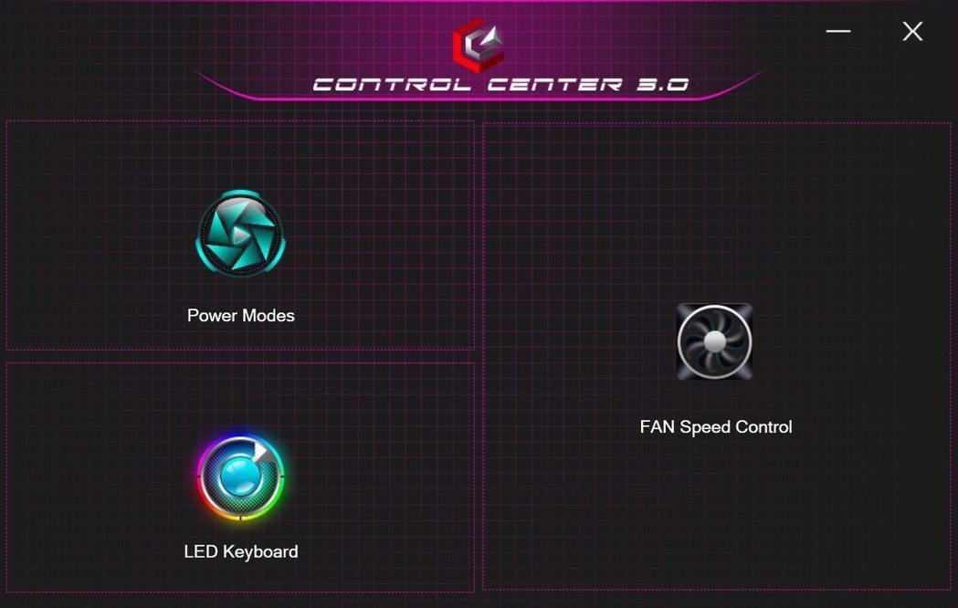 Control Center監控介面,電池、風扇再到鍵盤光源都能一次設定。 彭子...