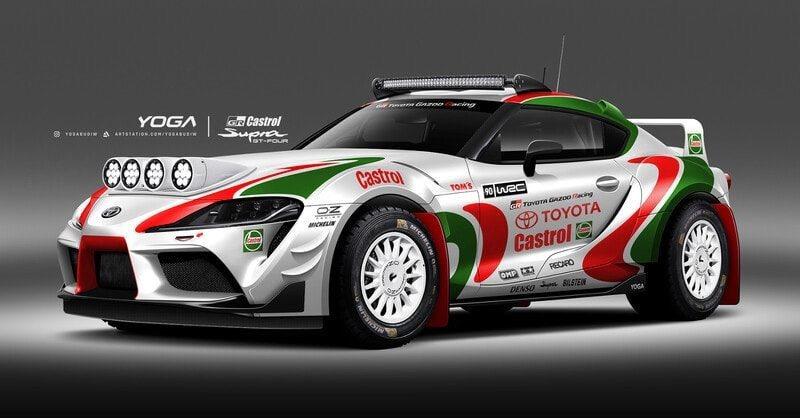 經典的WRC Celica GT-FOUR嘉實多塗裝套在GR Supra上。 摘...