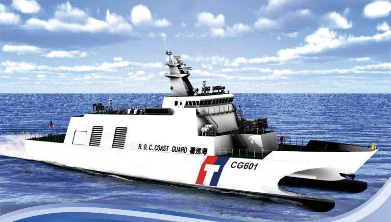 艦隊分署披露安平艦配備「鎮海火箭彈」示意圖。圖:艦隊分署