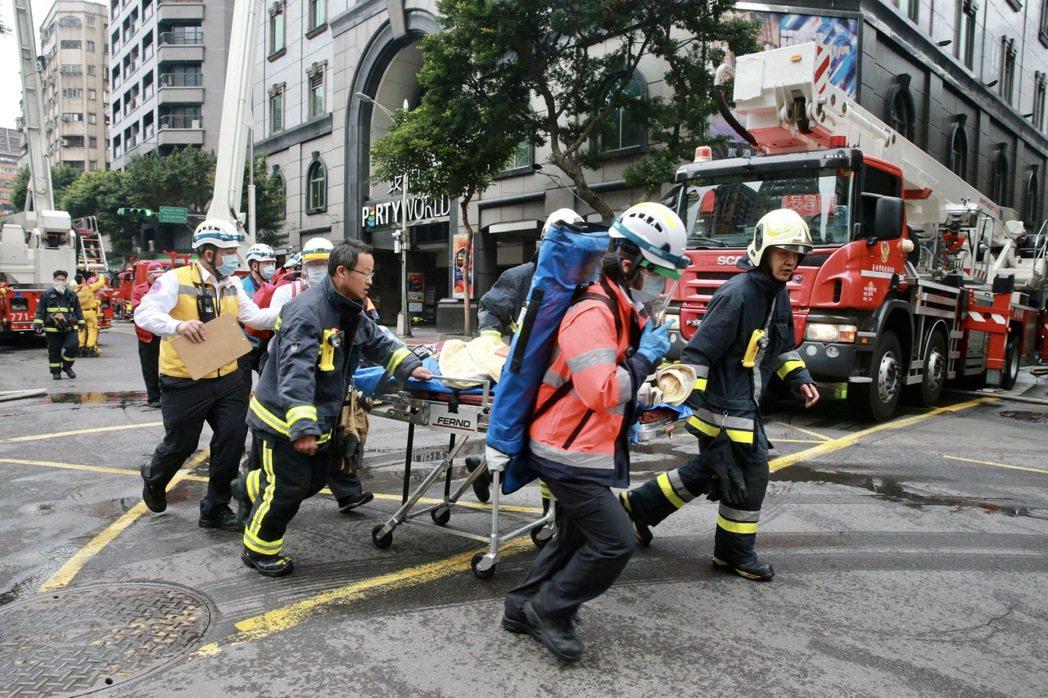 台北市中山區林森北路錢櫃KTV發生火警。記者黃義書/攝影