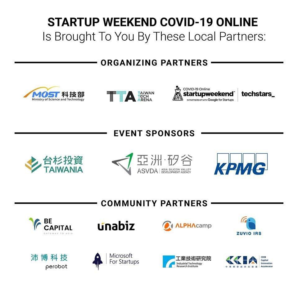 本次活動主辦方、贊助廠商及社群夥伴。 Techstars /提供