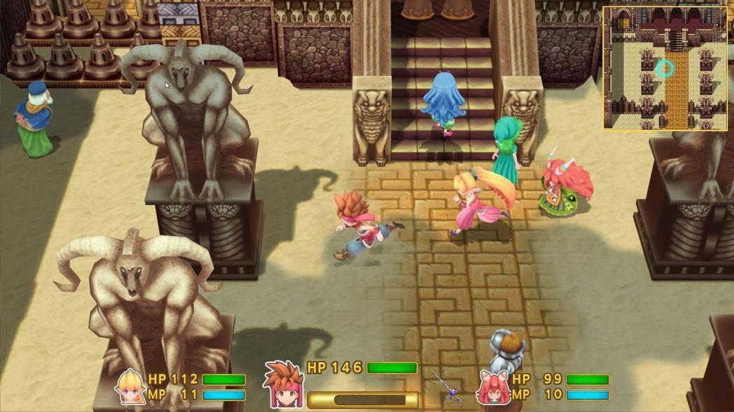 《聖劍 2》曾被重製為PS4、PSV版,但評價一般(遊戲截圖)