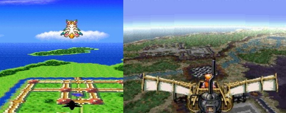 比較左圖《聖劍 2》與《SOE》飛行畫面,大家覺得兩者是否相似?(遊戲截圖)