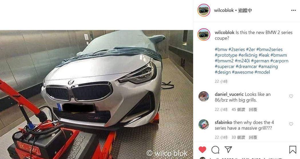 新BMW 2 Series Coupe的車頭風格特立獨行。 摘自IG:wilco...