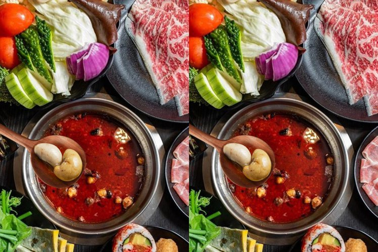 活動期間的假日,鍋控可享食材升級不加價「雞佛」吃到飽。圖/千葉火鍋提供
