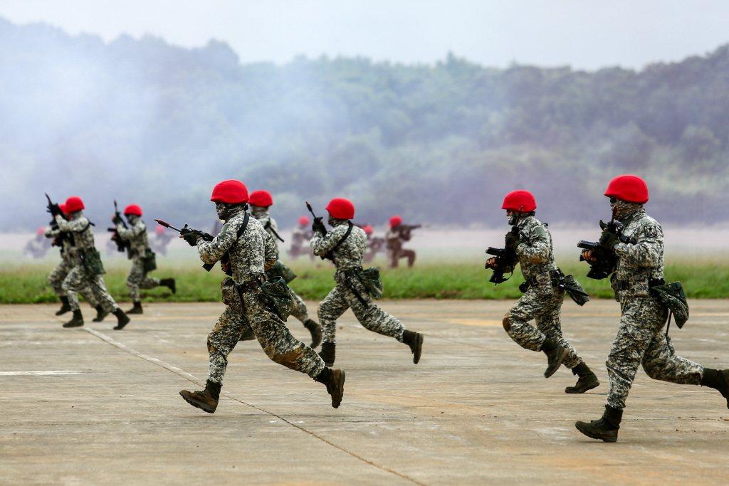 2019年漢光演習,陸軍湖口營區進行北部地區實兵對抗操演。 圖/聯合報系資料照
