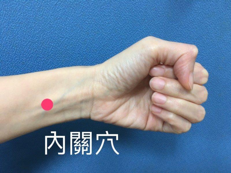 面對防疫時的焦慮情緒,南投醫院中醫師建議,可揉壓掌面的腕橫紋中間向肘方向延伸三橫...