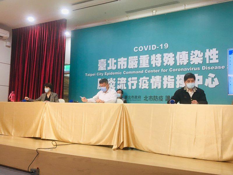 台北市長柯文哲、副市長黃珊珊及相關市府官員,親上火線說明錢櫃火災事件。記者張世杰/攝影