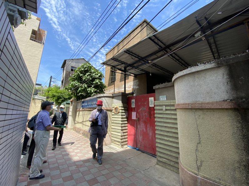 台南市中西区友爱街巷内方汤德章故居保存有望。记者修瑞莹/摄影