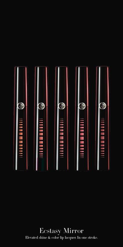 奢華訂製鏡光水唇釉共10色,單支6ml/ 1.350元。圖/Giorgio Ar...