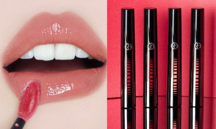 Giorgio Armani即將在5月推出「奢華訂製鏡光水唇釉」。圖/Giorg...