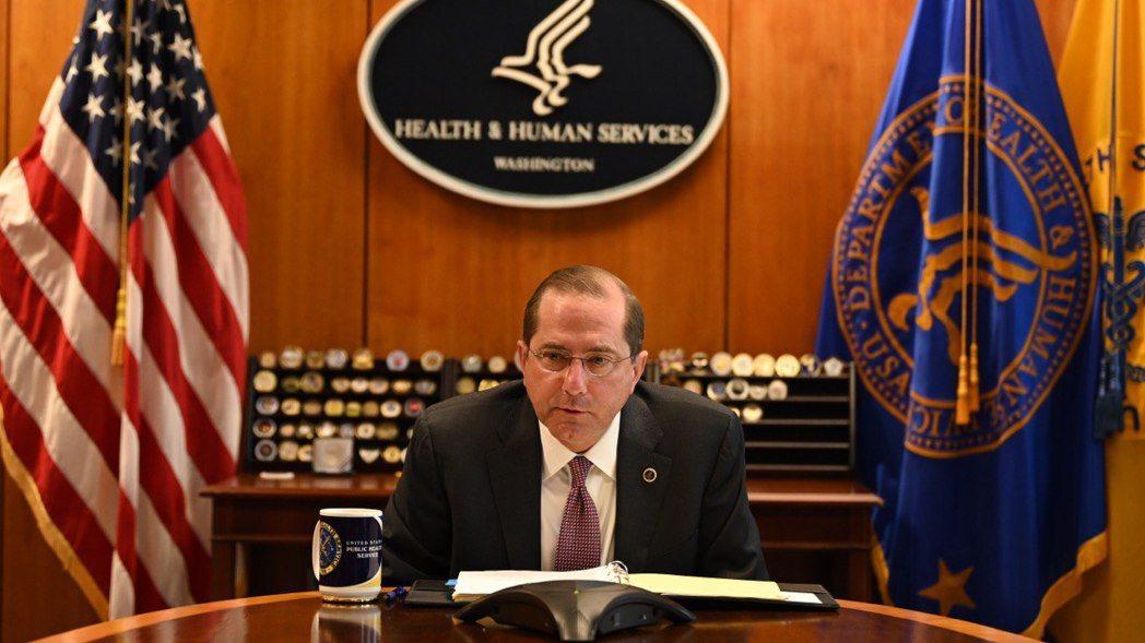 美國衛生部長阿查爾(Alex Azar II)。圖/衛福部提供