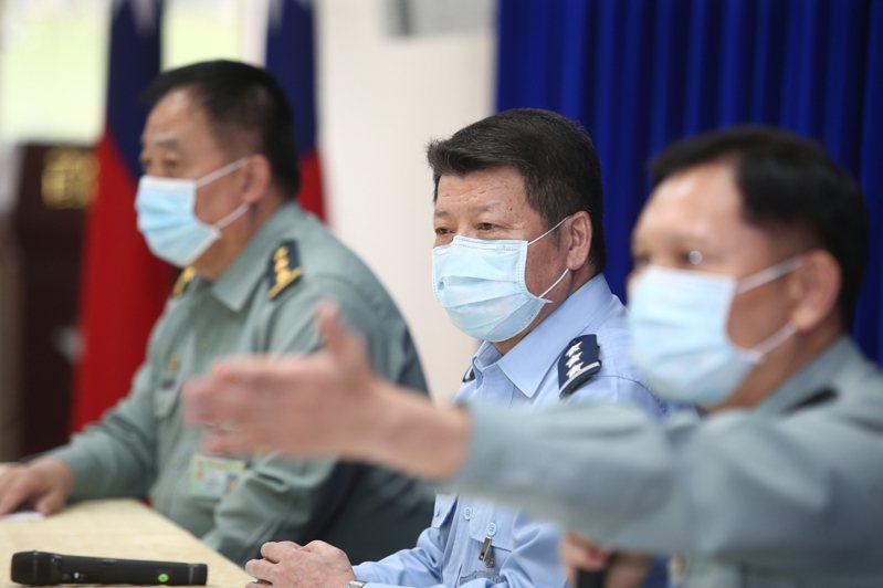 國防部昨舉行「海軍敦睦支隊遠訓染疫專案調查進度說明」記者會。記者蘇健忠/攝影
