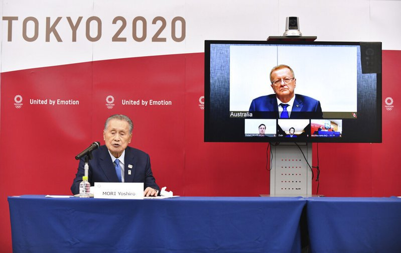 東奧組織委員會主席森喜朗表示,如果疫情在明年以前未獲得控制,就會取消已經延後一年的東京奧運。 美聯社