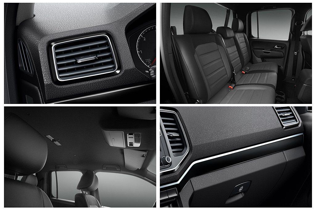福斯商旅Amarok V6 Black Edition車艙包括儀表板總成飾條還有...