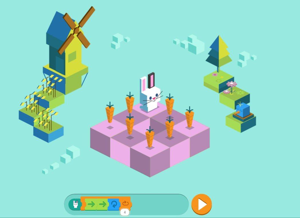 把簡單的程式碼放欄位內讓兔子動起來!