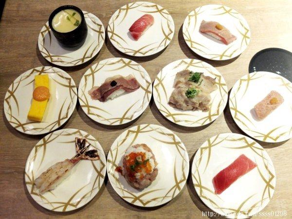 基本分成人氣推薦、握壽司、刺身、炙燒握壽、軍艦壽司、海苔捲壽、飲料/甜點、炸物/烤物、湯/麵這9個主項目